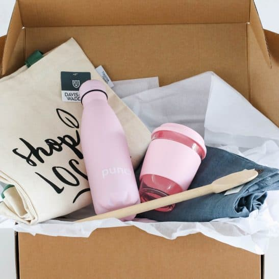 Our 'Eco-Friendly Hamper' is the perfect gift for someone passionate about sustainability and the environment. Our gorgeous hamper is filled with items aimed to reduce waste, including a reusable grocery tote, linen apron, classic wooden spoon, stainless steel drink bottle and eco cup.