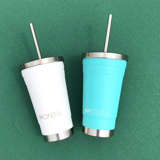 The latest addition to our MontiiCo range... the Teal Smoothie Cup by MontiiCo is both gorgeous and practical! Buy one for yourself and one for the kids!