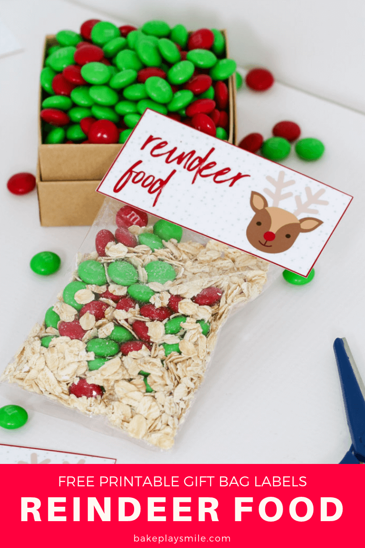 photograph about Reindeer Food Labels Printable known as Reindeer Foodstuff - Absolutely free Xmas Printable Present Bag - Bake