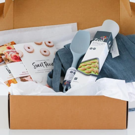 Our Ultimate Thermomix Hamper is the perfect gift for anyone who loves their Thermie! Filled with gorgeous baking essentials, cookbooks and more... this hamper will make you love your Thermomix even more!