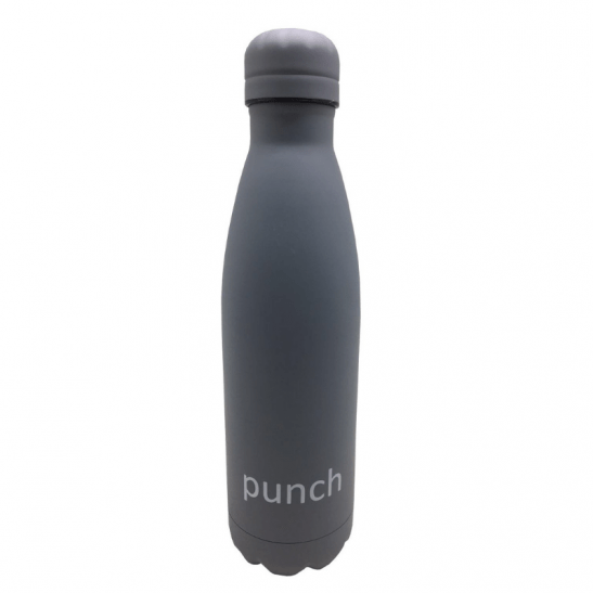 Our 500ml Punch stainless steel drink bottles come in two gorgeous matte colours - grey and pink. The perfect drink bottle for work, school or the gym!
