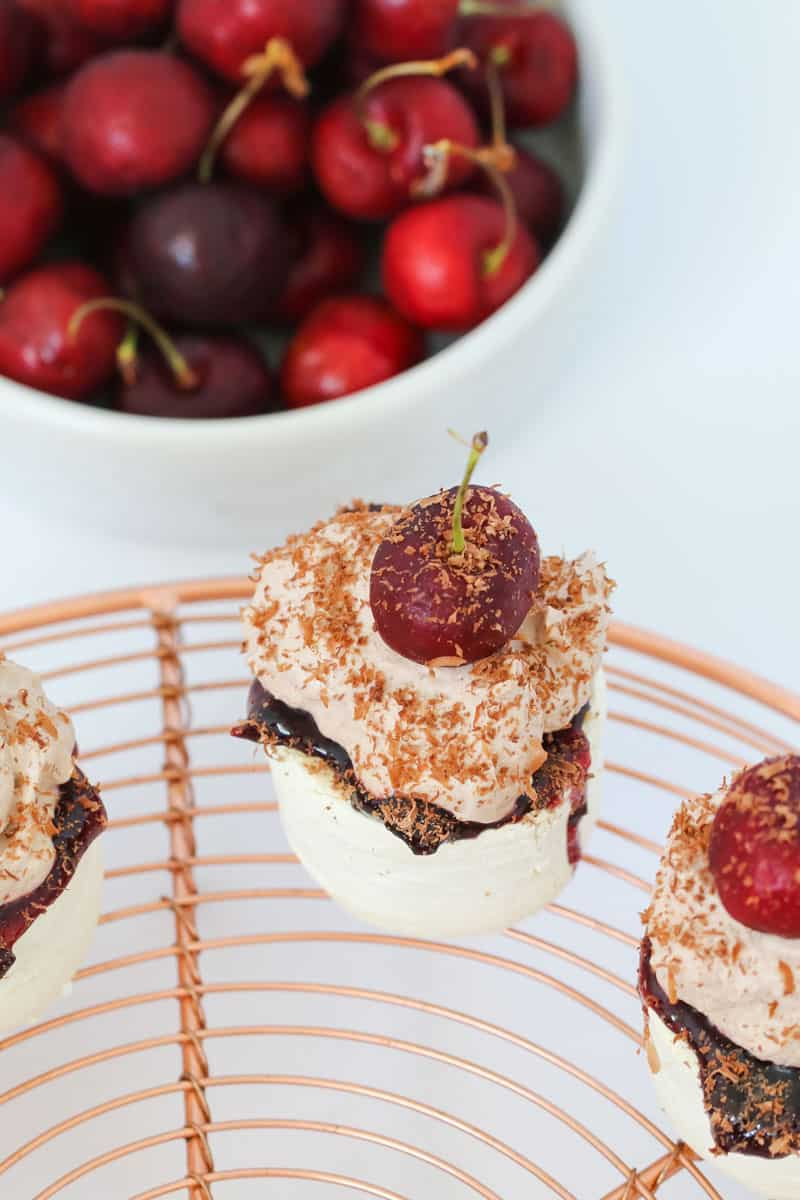 Our cheats Mini Black Forest Pavlovas take just 10 minutes to prepare... and even less time to eat! Perfect for Christmas or any celebration!