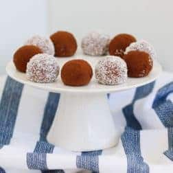 The easiest 3 ingredient Chocolate Tim Tam Balls made from crushed Tim Tams and sweetened condensed milk then coated in Milo, cocoa or coconut. #timtam #balls #chocolate #recipe #thermomix #conventional #3ingredient