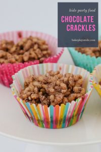 A simple classic chocolate crackles recipe made with rice bubbles, cocoa, icing sugar, coconut and copha... a kids party food favourite!