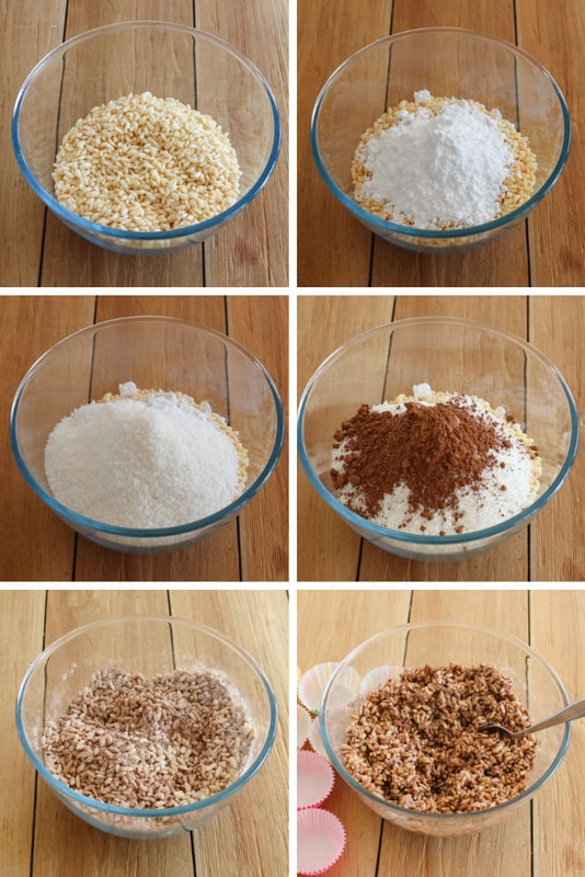 Step by step instructions for making a chocolate crackles recipe.