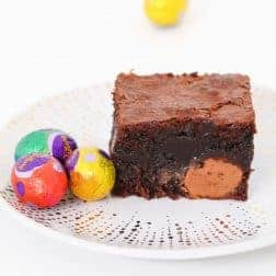 The most delicious Easter Egg Brownies you'll ever eat... the perfect moist and rich chocolate brownie recipe packed with mini Easter eggs!