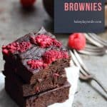 Rich and moist healthy raspberry brownies made with bananas and avocado... these are the perfect guilt-free dessert or cheeky snack.