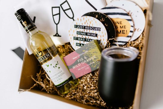 Our Deluxe Wine Lovers Hamper is the ultimate gift for a girl who loves wine... and chocolate!!! Filled with a stainless steel wine tumbler, 375ml bottle of white wine, 'Wine O Clock' tea towel, block of Pana chocolate, wine bag and coasters... it doesn't get anymore luxe.