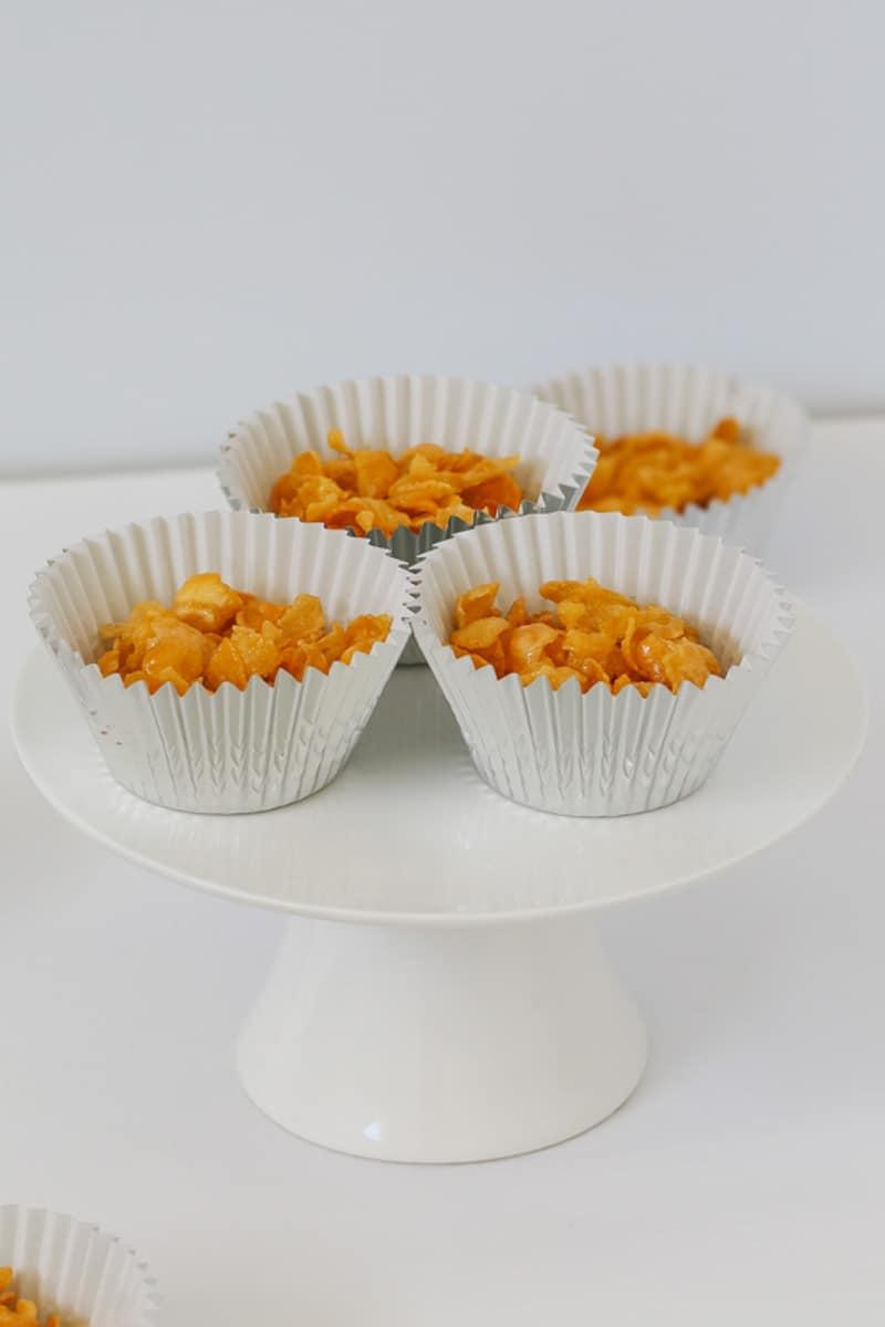 Honey joys made with cornflakes.