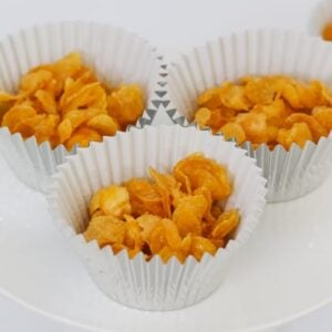The famous Honey Joys recipe made from cornflakes, butter, honey and sugar. The ultimate kids party food recipe!
