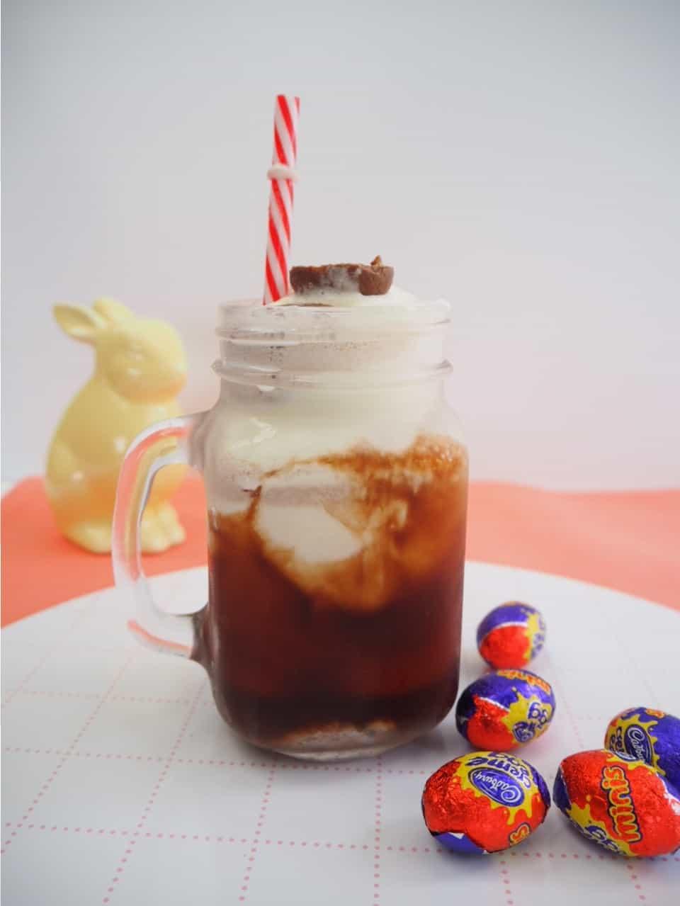 An Easter milkshake recipe made with Cadbury creme eggs