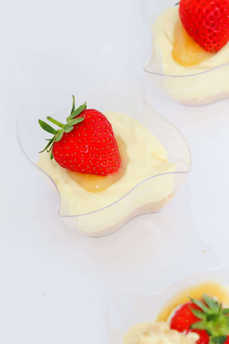 Lemon curd cheesecakes.