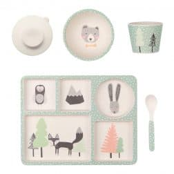 The Love Mae range gets even sweeter with the birds and bunnies inspired Fox and Friends Toddler 5 Pce Dinner Set! RRP $39.00