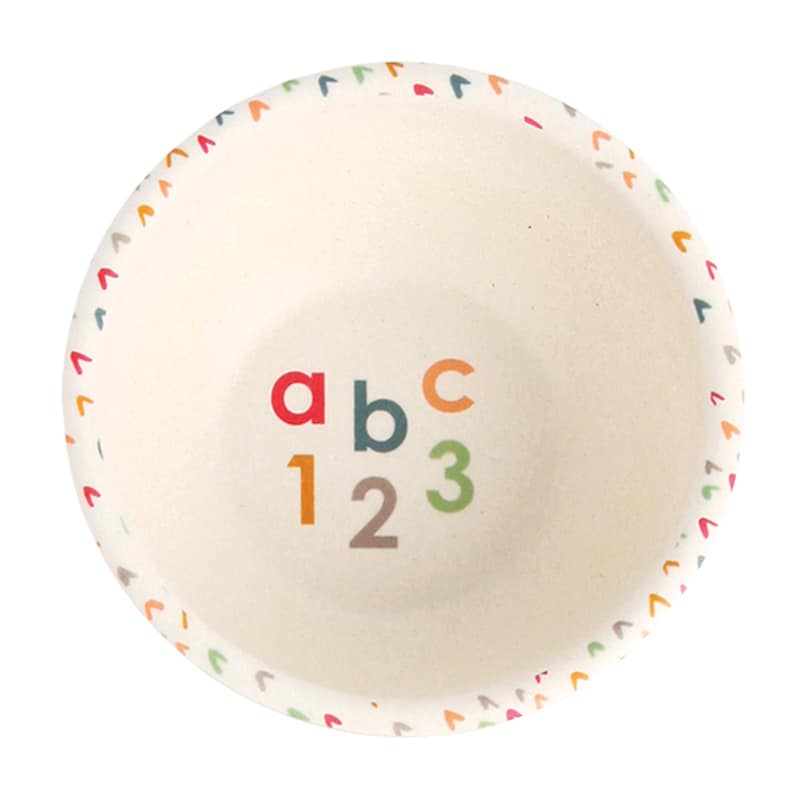 The ABC Toddler 5 Pce Dinner Set from the gorgeous Love Mae range is plant based, plastic free and melamine free... and your little one is going to absolutely love it! RRP $39.00