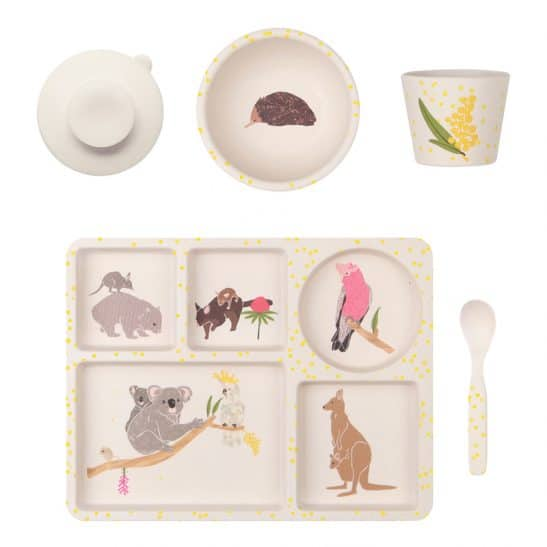 Bring a little Aussie bush magic to dinner time with the Love Mae Australiana Toddler 5 Pce Dinner Set featuring Australian animals. RRP $39.00