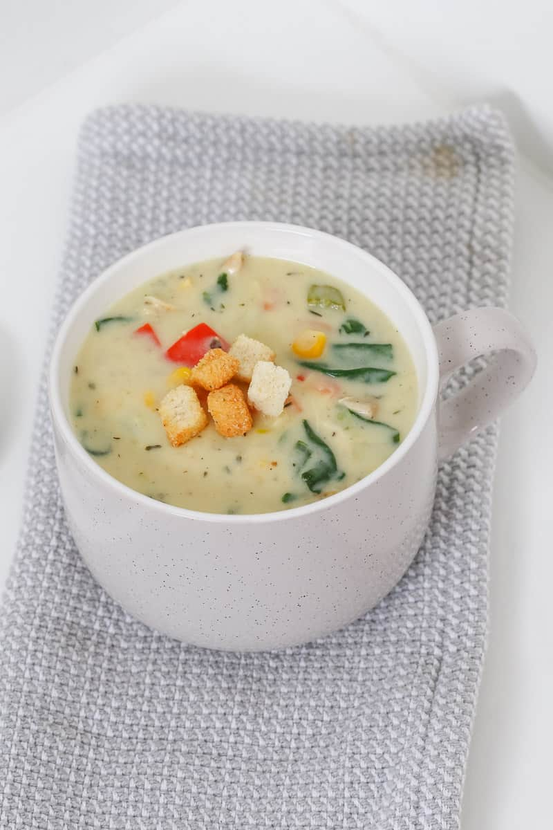 Vegetable and chicken soup.