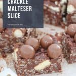The ultimate 10 minute, no-bake Chocolate Crackle Malteser Slice... the sneaky treat that every chocoholic needs in their life!