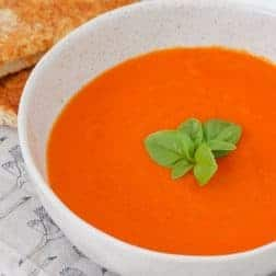 A hearty vegetable-packed winter tomato soup recipe that makes a healthy and delicious midweek meal... have it on the table in 45 minutes!