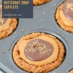 Our classic 3 ingredient Chocolate & Caramel Butternut Snap Tartlets take just 10 minutes to make and taste AMAZING!