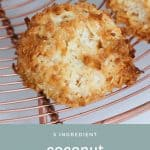 Classic coconut macaroons that are soft and chewy on the inside and made with just 5 ingredients... the perfect afternoon tea treat!