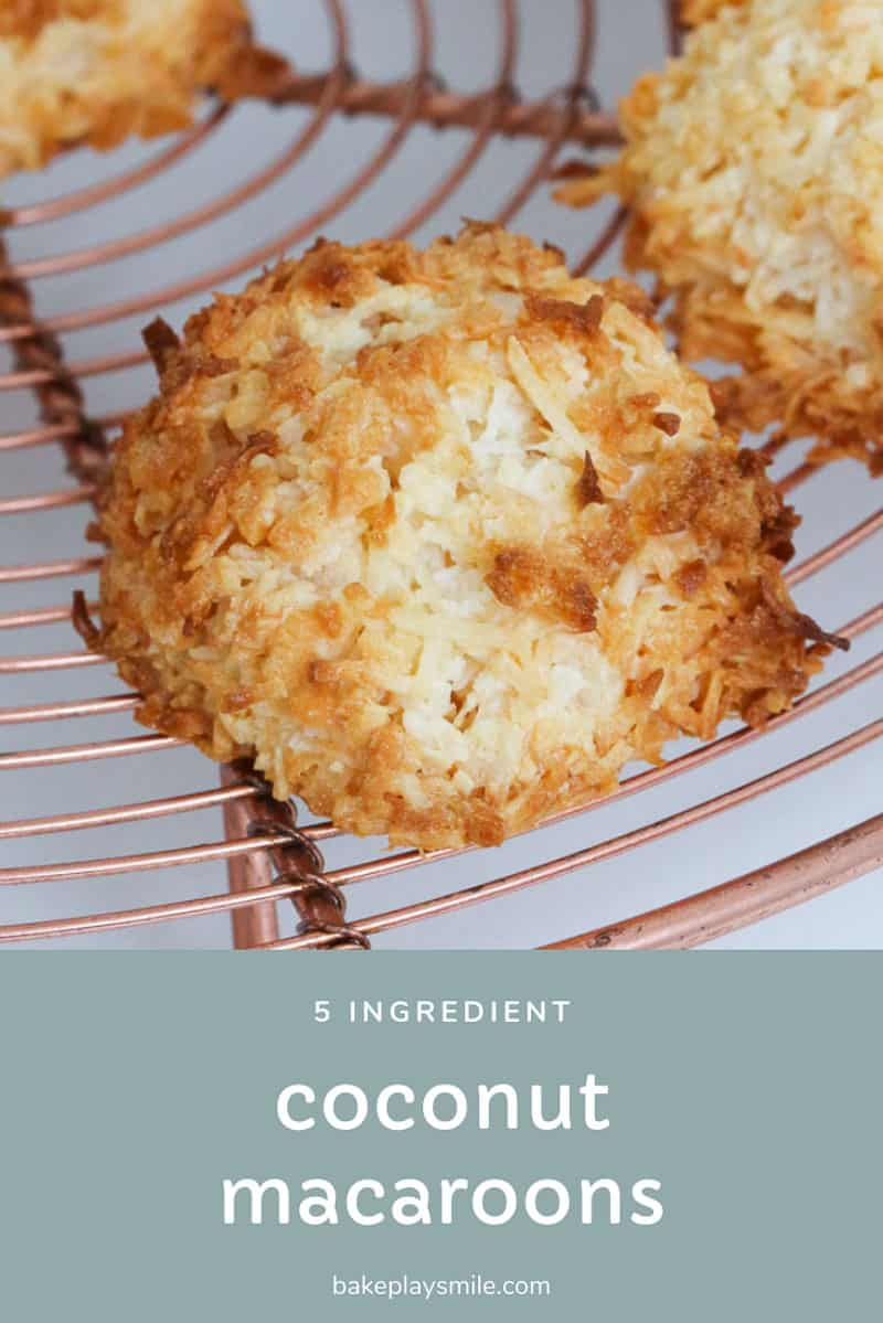 A coconut macaroon that has been cooked until lightly golden on top.
