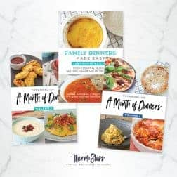 Three Thermomix Family Dinner cookbooks.