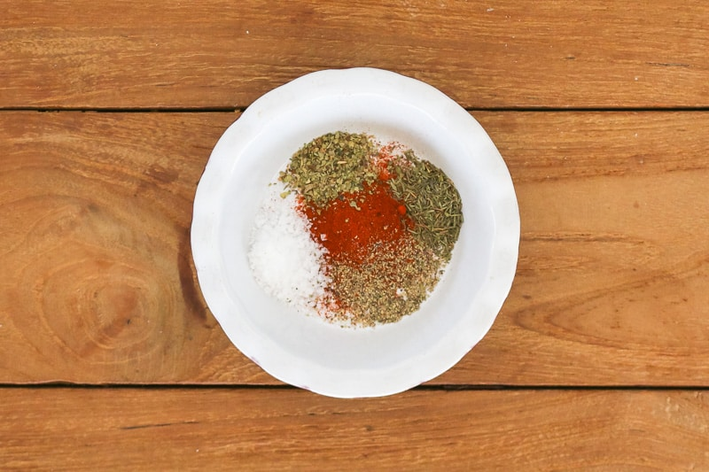 Spices in a small bowl.