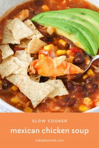 A Mexican chicken soup made in the slow cooker.