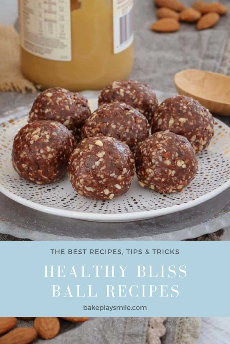 A plate of chocolate nut bliss balls.