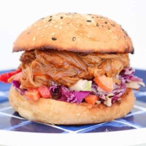 Slow Cooker Pulled Pork Burger