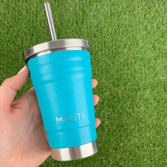 Glitter Aqua Mini Smoothie Cup | MontiiCo