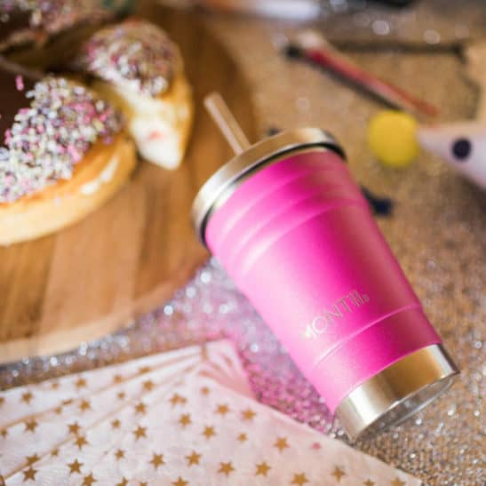 Glitter Magenta Mini Smoothie Cup | MontiiCo