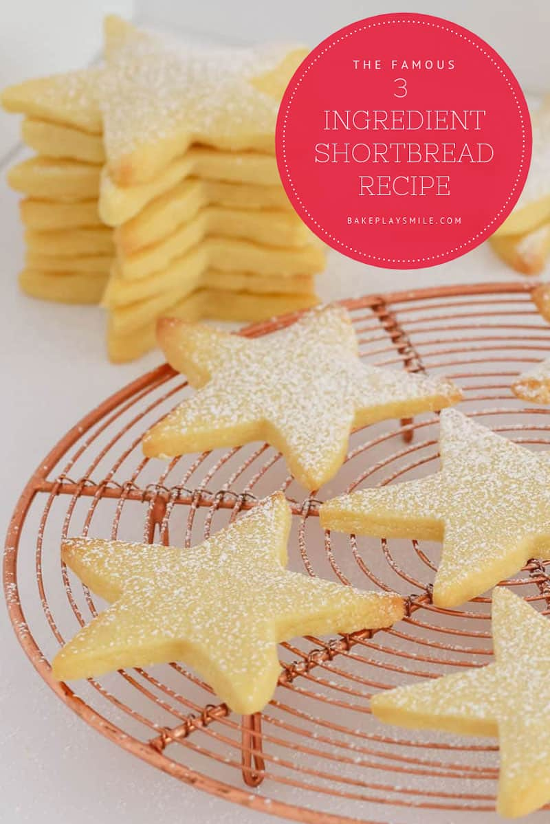 Christmas shortbread made from 3 ingredients.