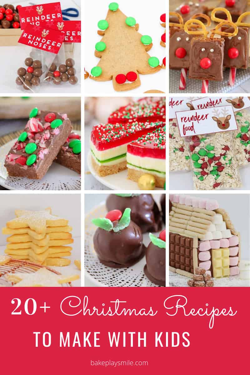 A collection of Christmas recipes for kids.