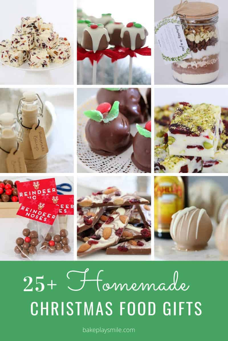 A collage of homemade recipes for Christmas gifts.
