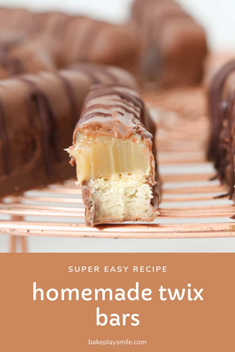 Irresistable homemade Twix Bars... a copycat version of the famous chocolate bar made with a shortbread base, soft caramel and rich chocolate coating.