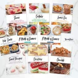 A selection of ten recipe books