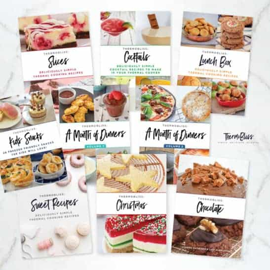 A selection of ten recipe books