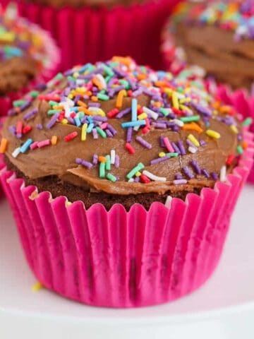 Our famous chocolate cupcakes with chocolate fudge frosting really are the best! So simple to make and perfect for birthday parties.