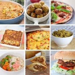 Images of dinners made in a Thermomix.