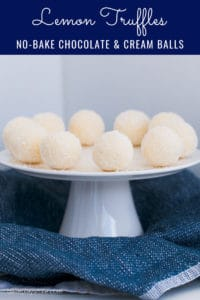 Simple Lemon & White Chocolate Truffles made with cream and coconut... the perfect dessert or homemade food gift for friends, family or neighbours!