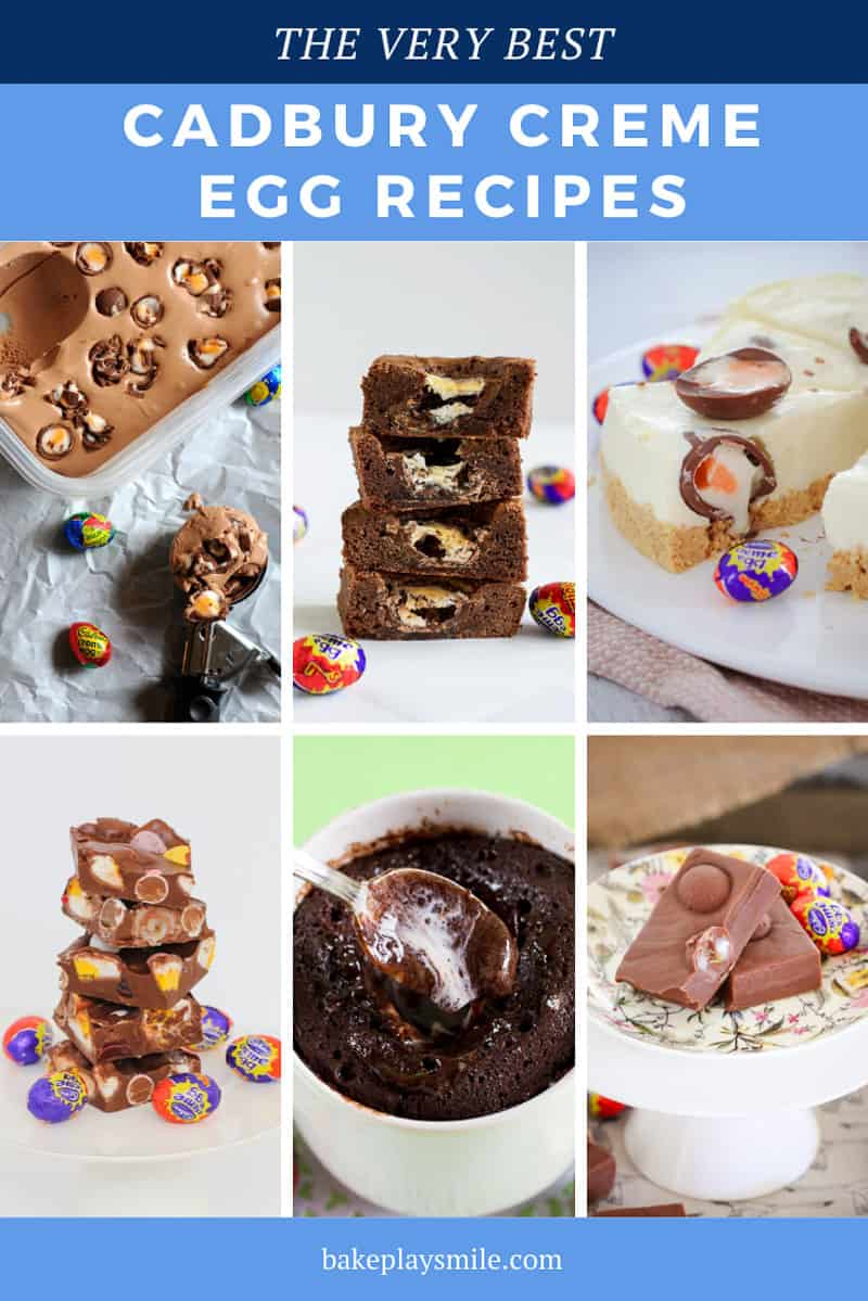 If you love Cadbury Creme Eggs then you're going to fall in love with our delicious creme egg recipes - from cheesecakes to brownies, fudge to rocky road and more! #cadbury #creme #egg #recipes #easter #chocolate