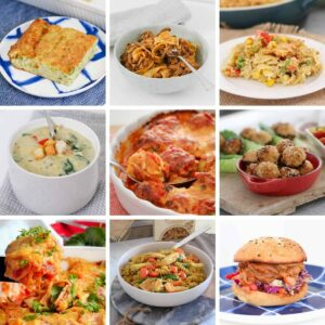 Our collection of 30+ freezer meals are budget-friendly and made from basic ingredients... pastas, lasagne, soups, slow cooker meals, vegetarian options, quiches, tarts and more!