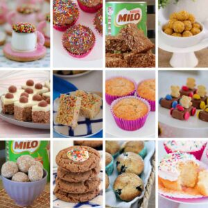Browse our collection of super simple kids recipes the are perfect for the mini chefs in your house! From cookies to bliss balls, slices, cupcakes, muffins and more! #kids #recipes #baking #cookies #muffins #slices #cakes