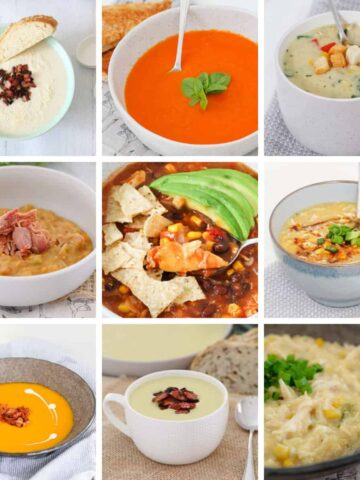 Browse our collection of delicious and healthy soup recipes... from chicken noodle soup to Thai pumpkin soup, creamy zucchini soup to tomato soup and more! Packed full of vegetables and protein, these hearty and nutritious soup recipes will become family favourites in no time! #healthy #soup #soups #recipes #winter