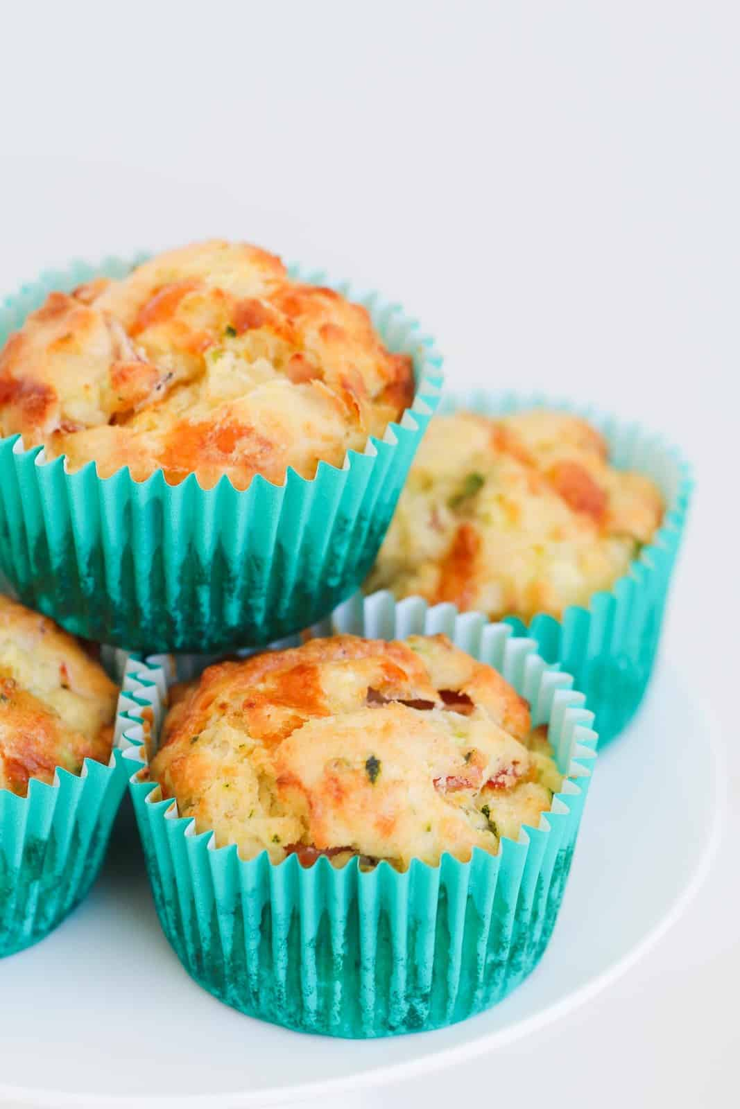 A pile of savoury muffins.