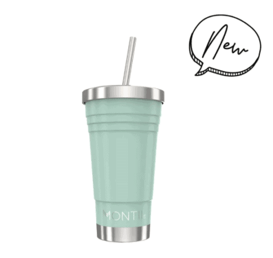 A blue drinking cup