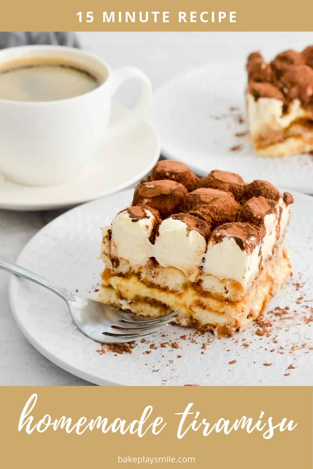 "The best tiramisu recipe! A rich and creamy Italian dessert with espresso-soaked ladyfingers, layered between a rich and lightly sweetened mascarpone and sprinkled with cocoa. This easy tiramisu is the ultimate ""pick me up""! #tiramisu #recipe #conventional #thermomix #dessert #coffee #italian"