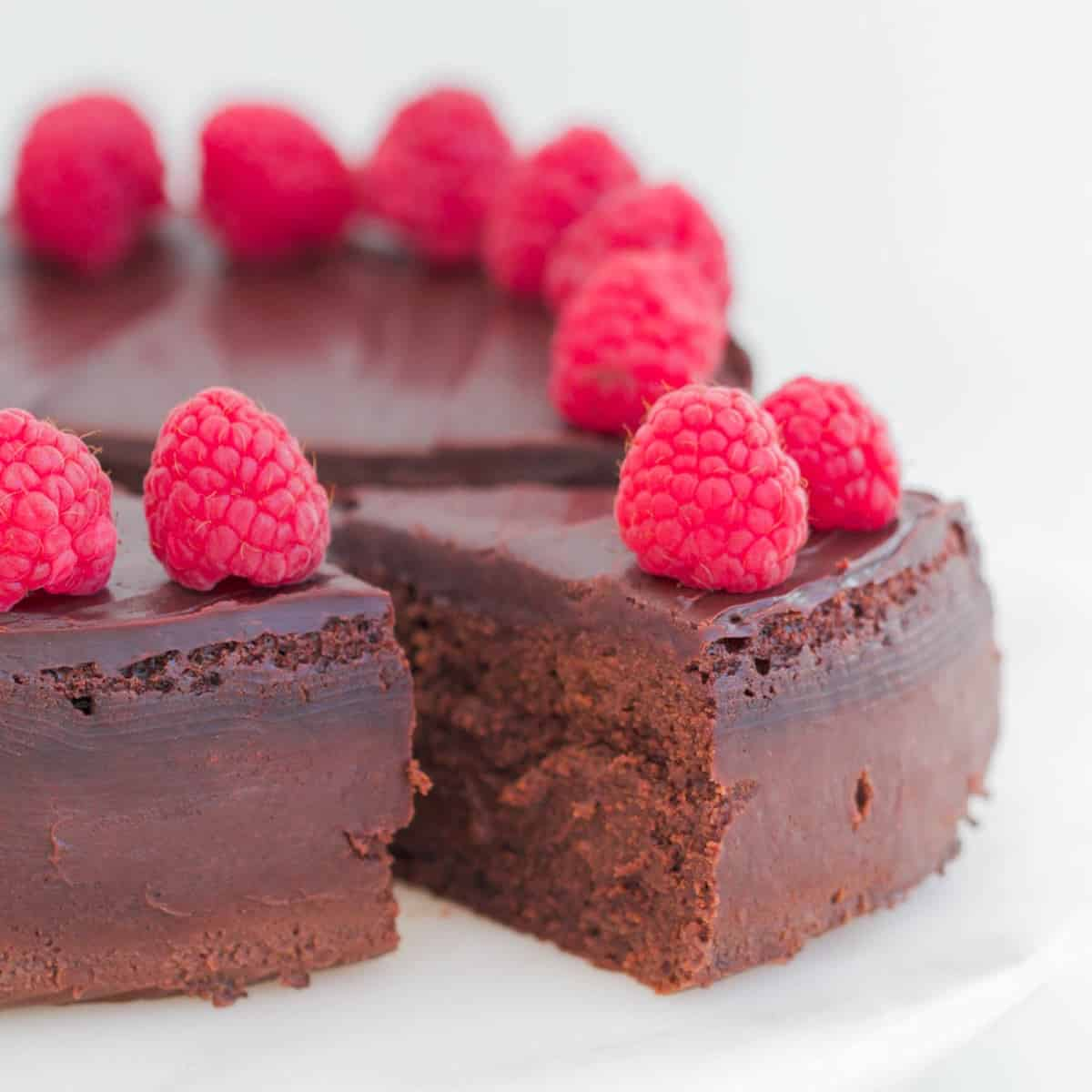 3 Ingredient Flourless Chocolate Cake Gluten Free Bake Play Smile