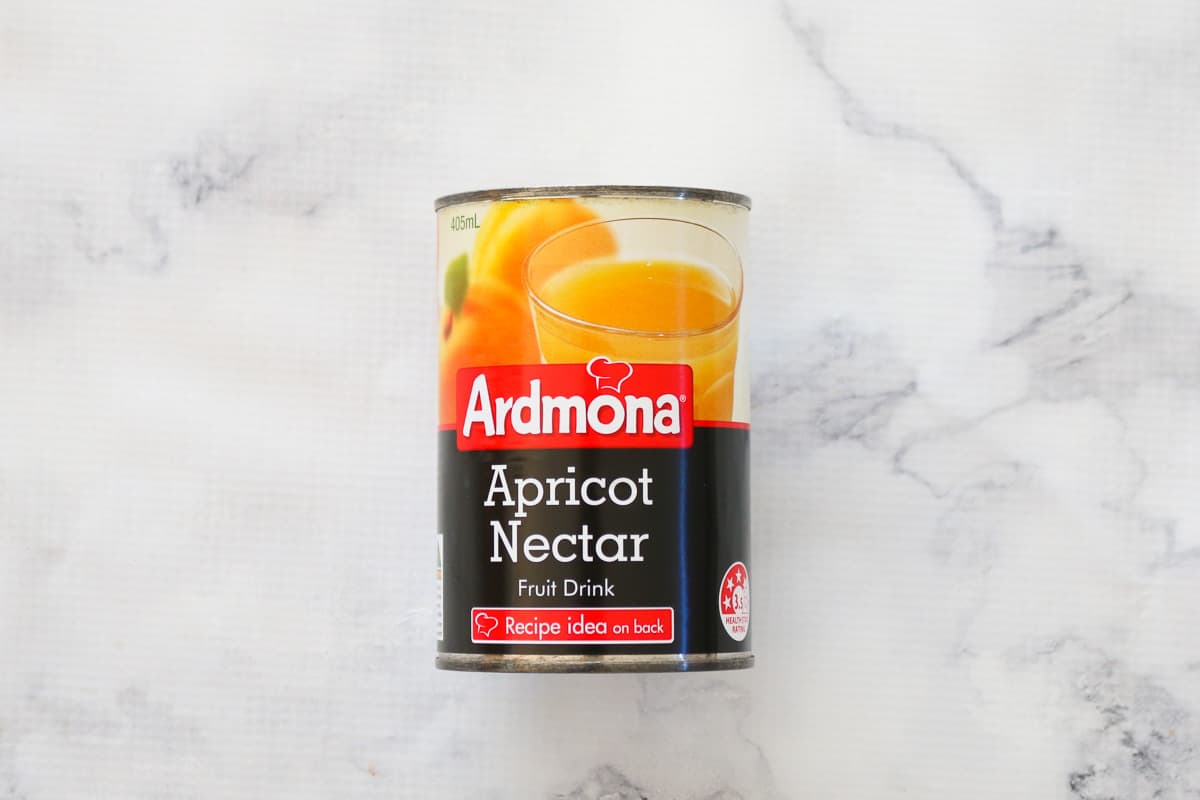 A tin of apricot nectar used for slow cooker Apricot Chicken.